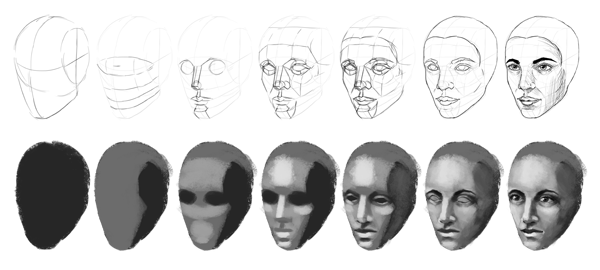 drawing painting technique difference