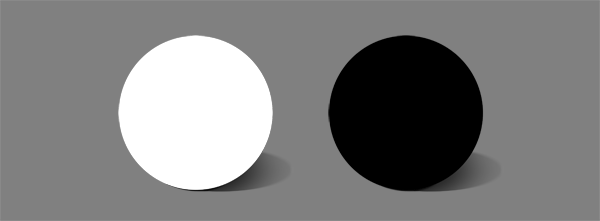 how to shade black white flat colors