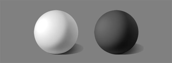 how to shade black white intuition