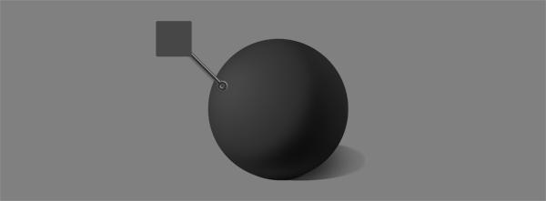 how to shade black white gray ball