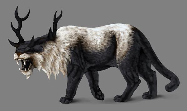 how to paint black white photoshop black fur details