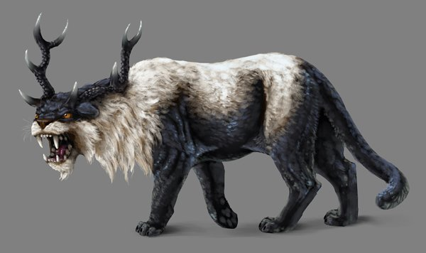 how to paint black white photoshop creature finished