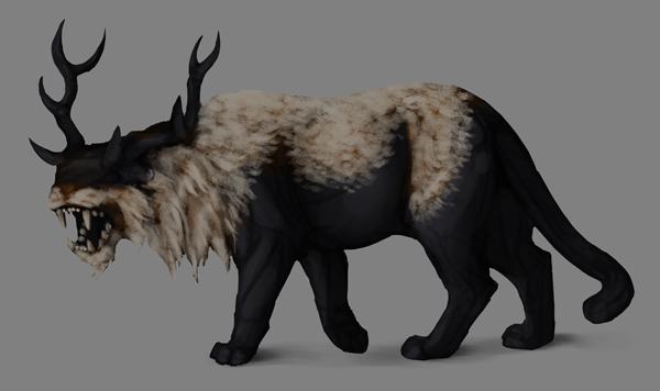 how to paint black white photoshop white fur base