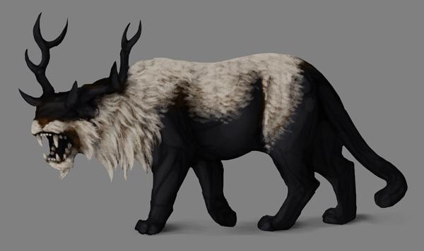 how to paint black white photoshop white fur details dark