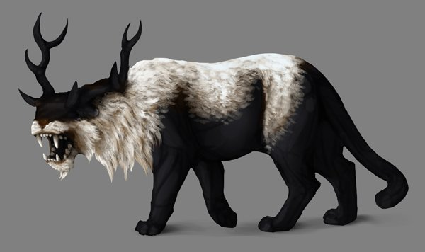 how to paint black white photoshop white fur subsurface scattering