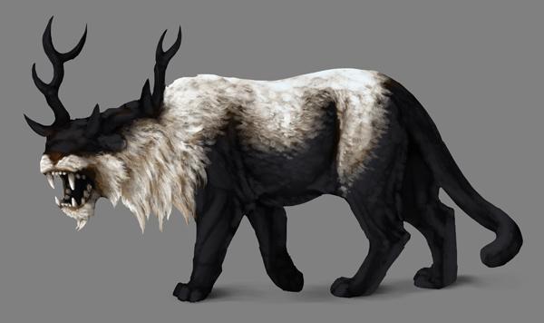 how to paint black white photoshop black fur basic shading