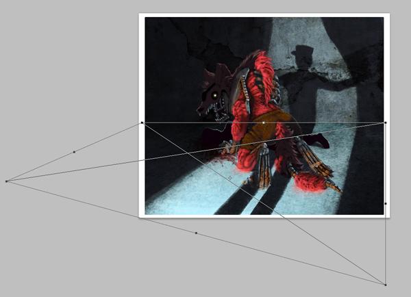 digital painting photoshop floor texture perpective