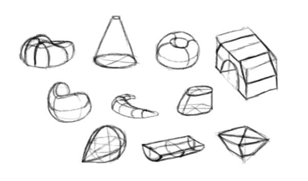 how to draw block shapes perspective 3d