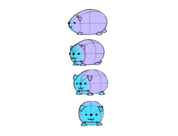 perspective animal adjacent sides