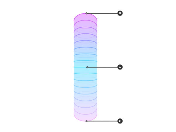 perspective directing lines on cylinder vertically