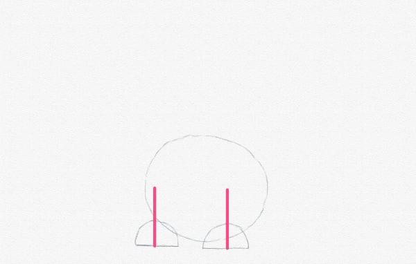 draw the legs length
