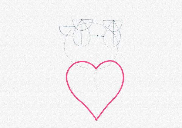 how to draw heart done