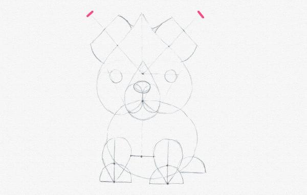 how to draw fox ears