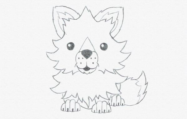 draw cartoon cute fox baby
