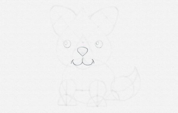 how to draw animal cartoon eyes nose