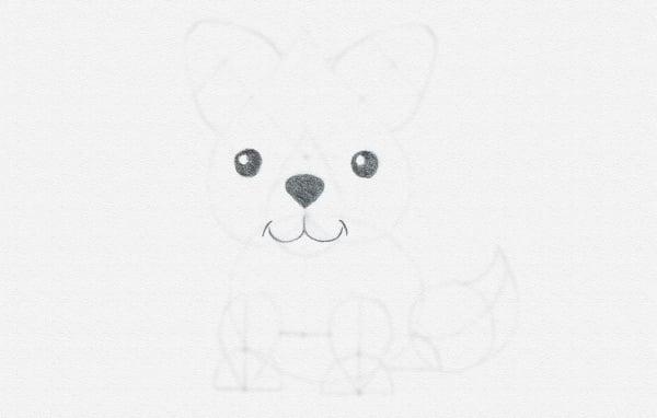 hhow to draw animal cartoon eyes nose black