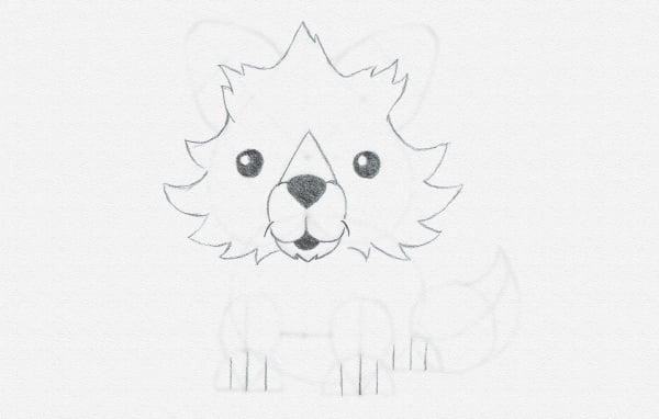 draw cartoon paws