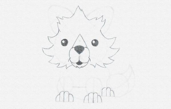draw cartoon paws top