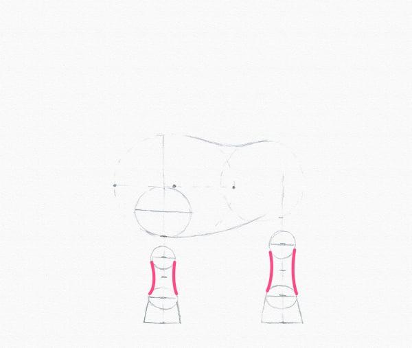 pony drawing lower leg