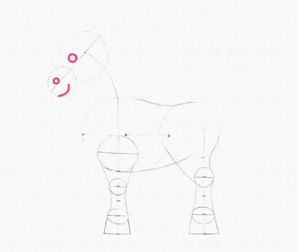 draw pony face