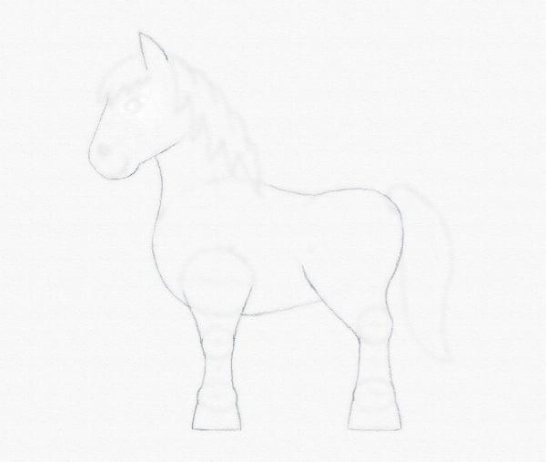 draw pony body outline