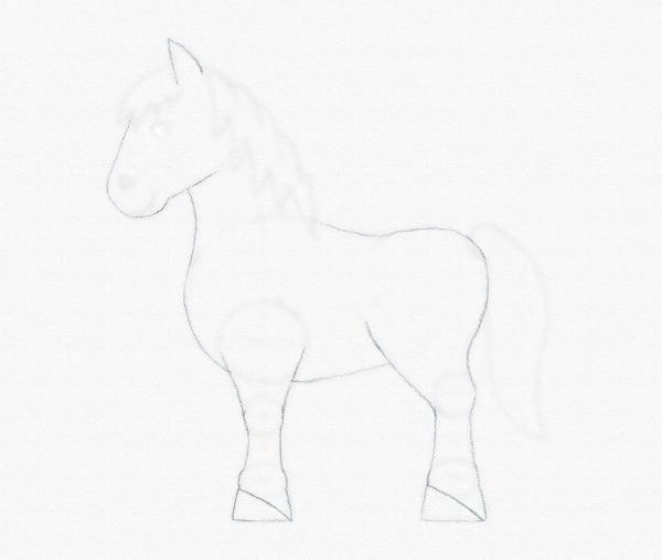 draw pony hooves