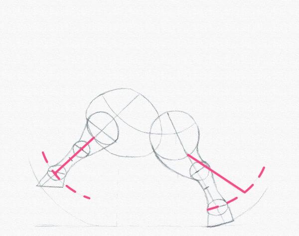 draw a pony legs bent length