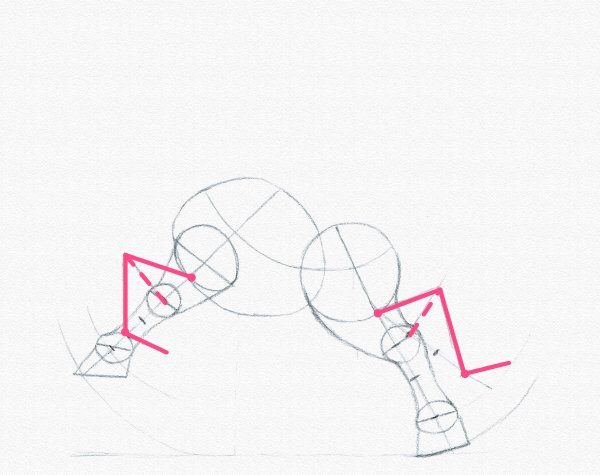 draw a pony legs bend joints