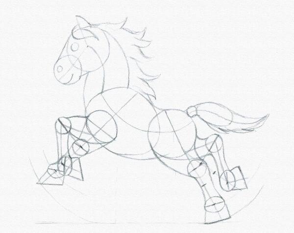 draw a pony finish sketch