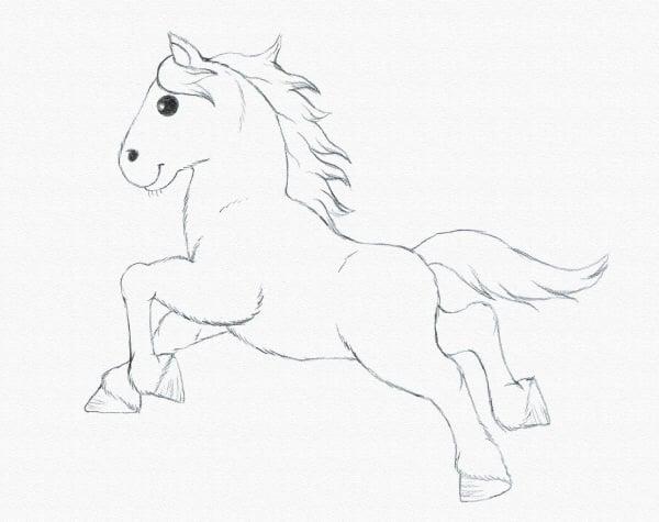 draw a pony finish drawing