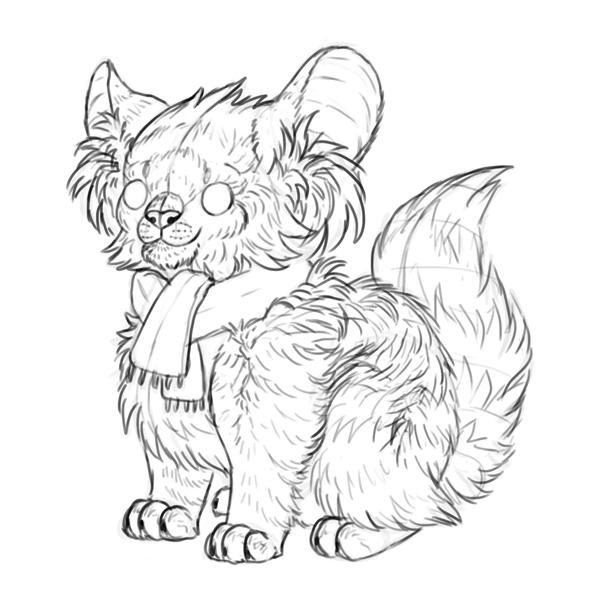 draw a creature last sketch line art
