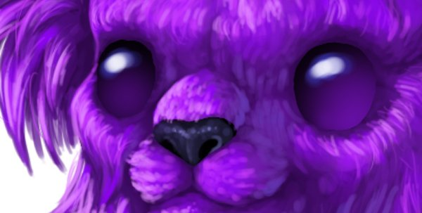 digital painting creature eyes shine light