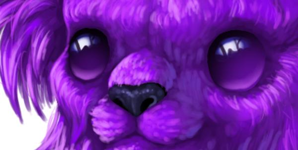 digital painting creature eyes smoothen cute