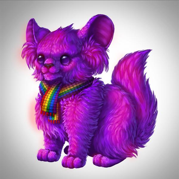 digital painting creature brighten fur select