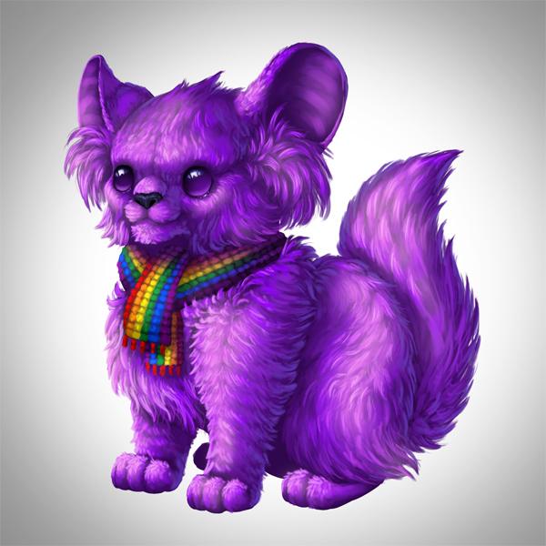 digital painting creature fur brightened