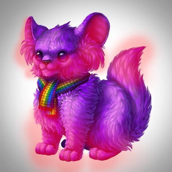 digital painting creature white fur select