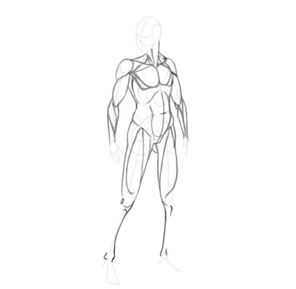 draw a realistic female warrior shins
