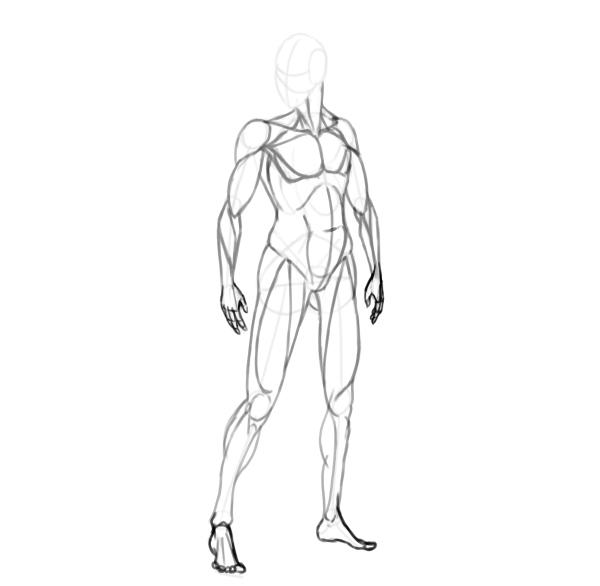 draw a realistic female warrior feet hands