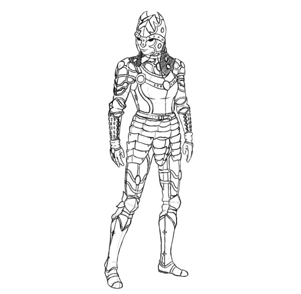 draw realistic female armor functional whole armor