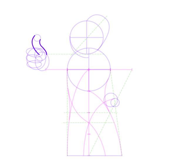 draw vaul boy fallout thumb lines