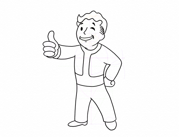 draw vaul boy fallout done
