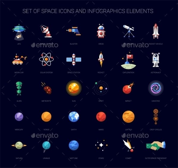 space cosmos icons download