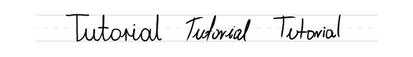handwriting style vs drawing style
