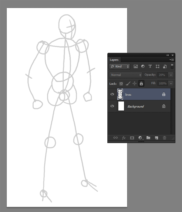 draw vector deadpool photoshop line art