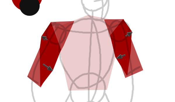 draw vector deadpool photoshop arm muscles