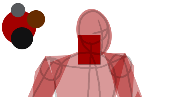 draw vector deadpool photoshop neck