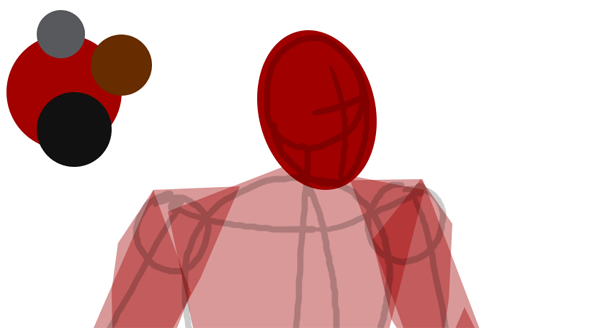 draw vector deadpool photoshop simple head