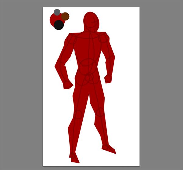draw vector deadpool photoshop hips