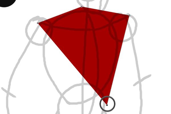 draw vector deadpool photoshop pen tool drawing 2