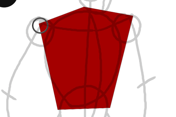 draw vector deadpool photoshop pen tool drawing finish